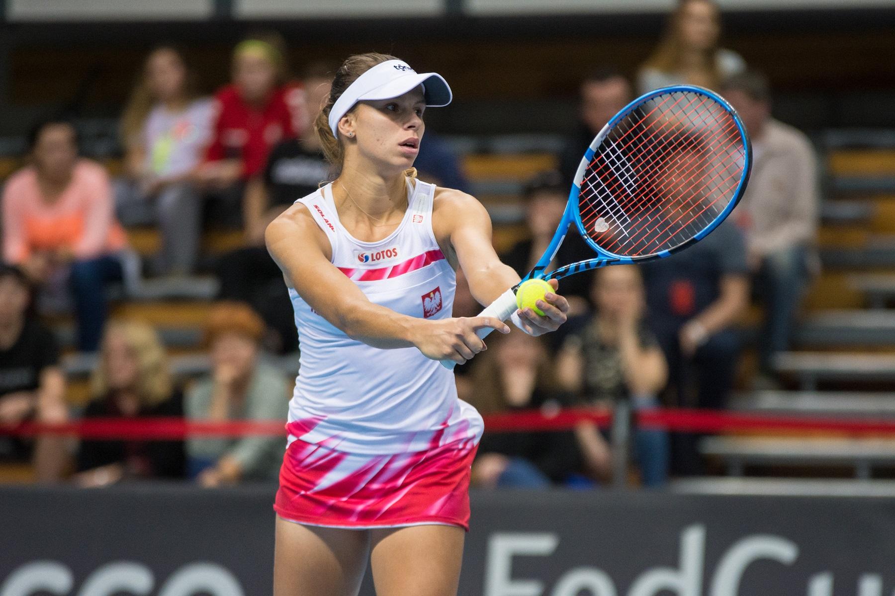 Tenis ziemny kobiet. FedCup. Polska - Dania. 08.02.2019