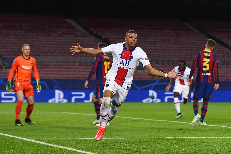 FC Barcelona v Paris Saint-Germain  - UEFA Champions League Round Of 16 Leg One Kylian Mbappe