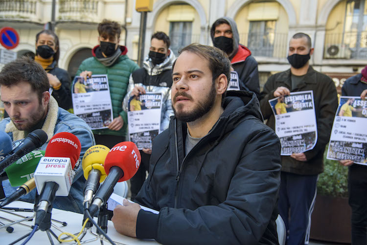 Press Conference With Rapper Pablo Hasel After His Imprisonment Order