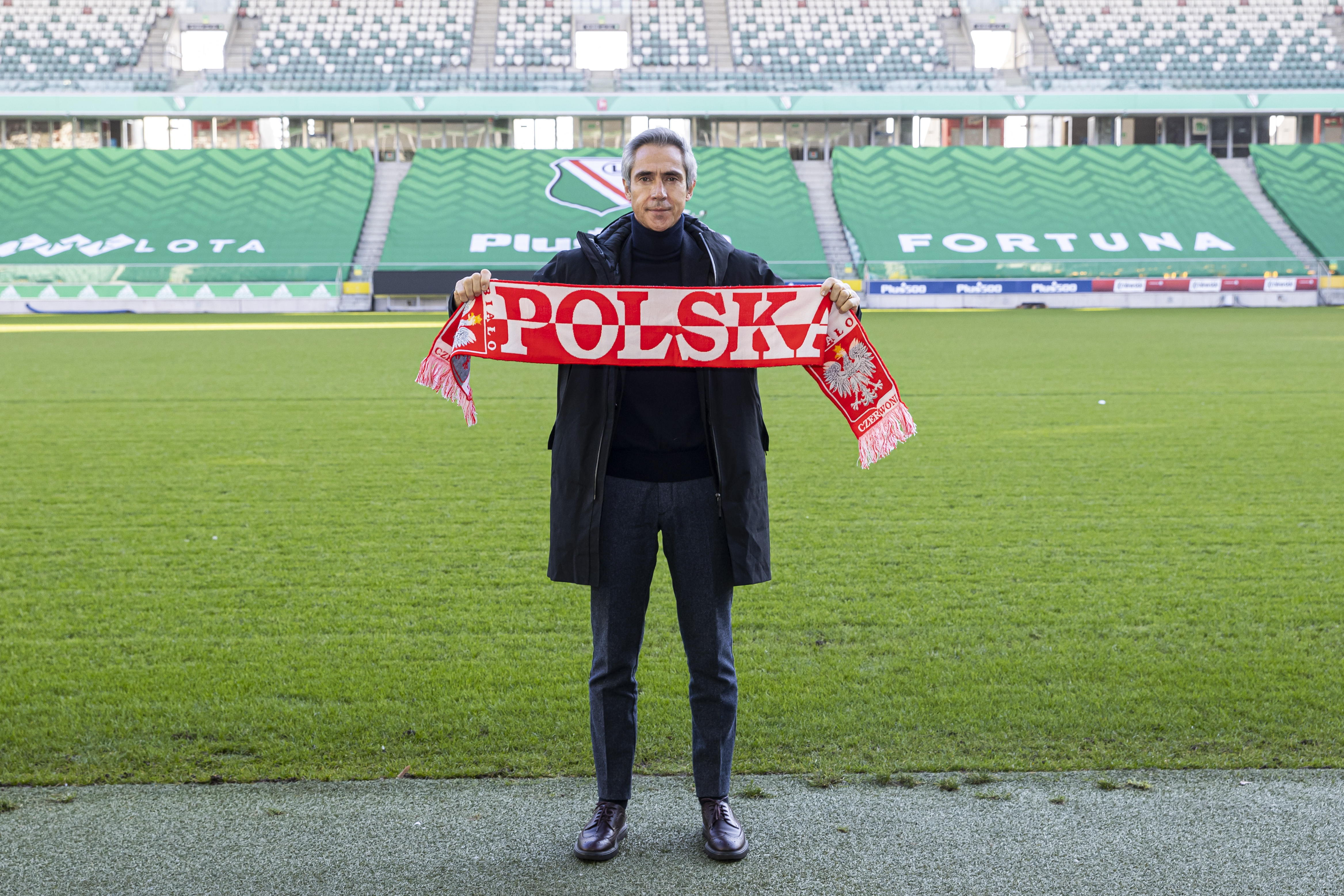 Pilka nozna. Reprezentacja Polski. Paulo Sousa na stadionie Legii. 28.01.2021