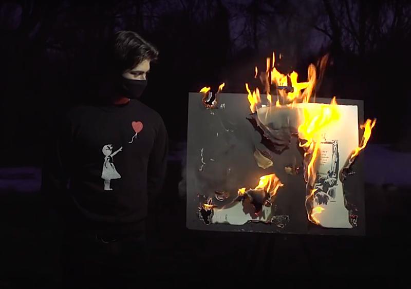 Tego jeszcze nie było - obraz Banksy'ego został spalony, zdigitalizowany i wystawiony w formie NFT