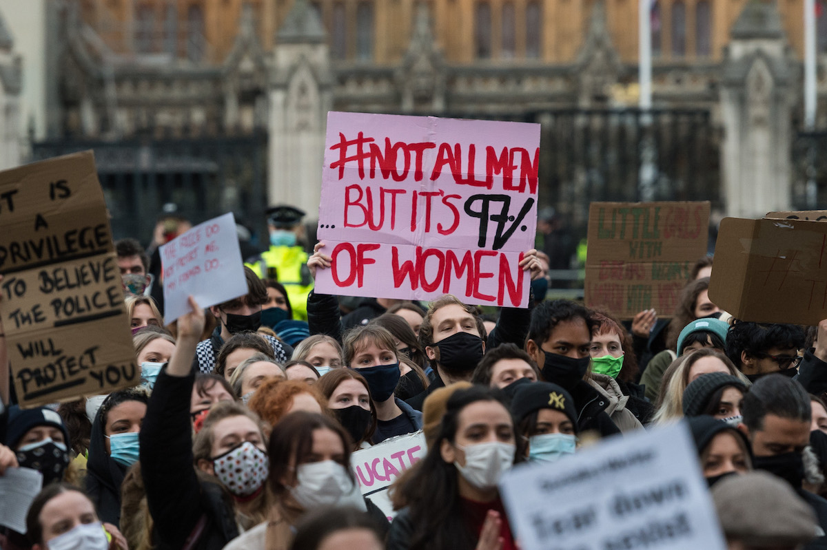 Demonstration Against Anti-Protest Bill in London