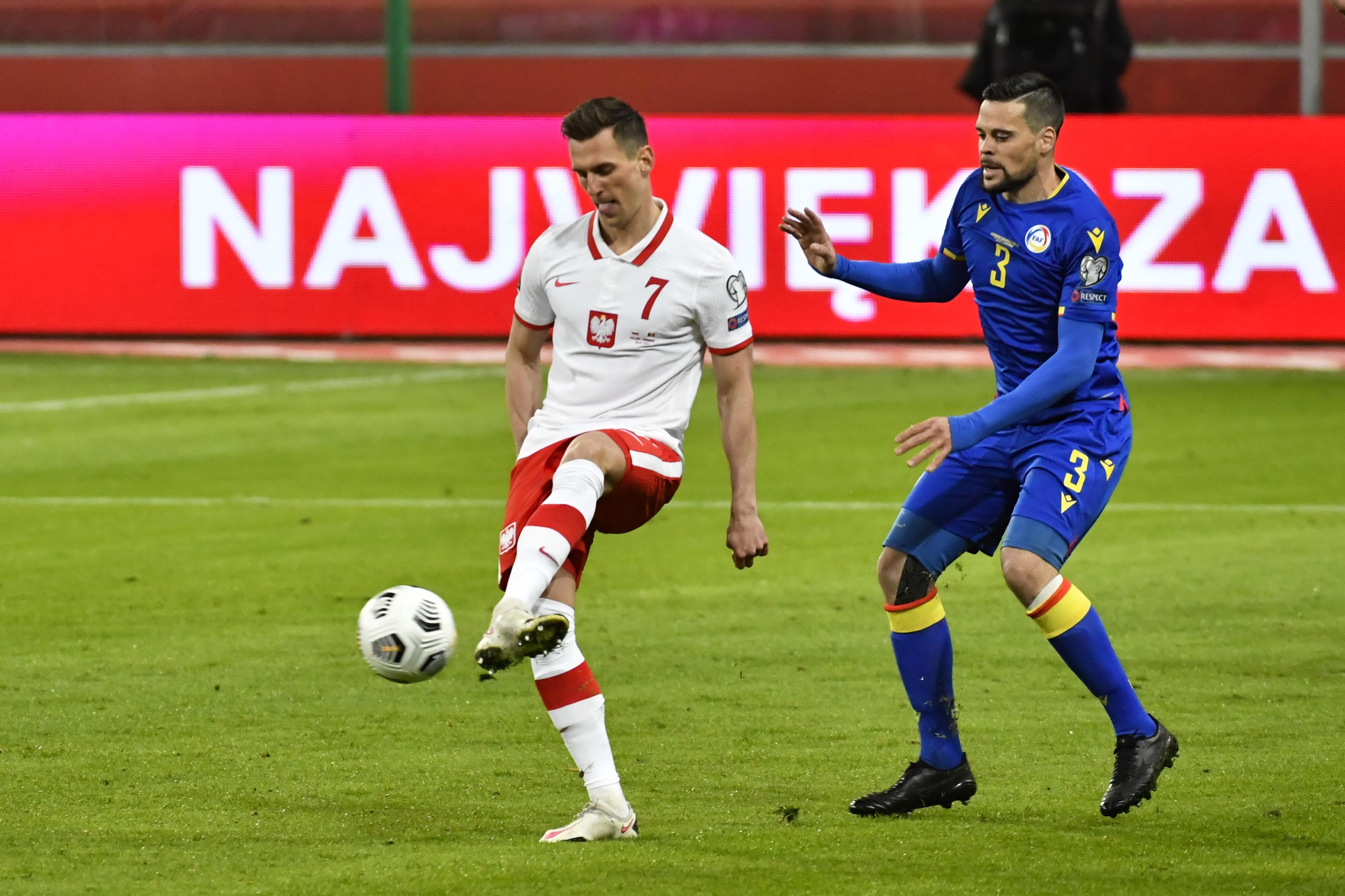 Pilka nozna. Eliminacje do MS 2022. Polska - Andora. 28.03.2021