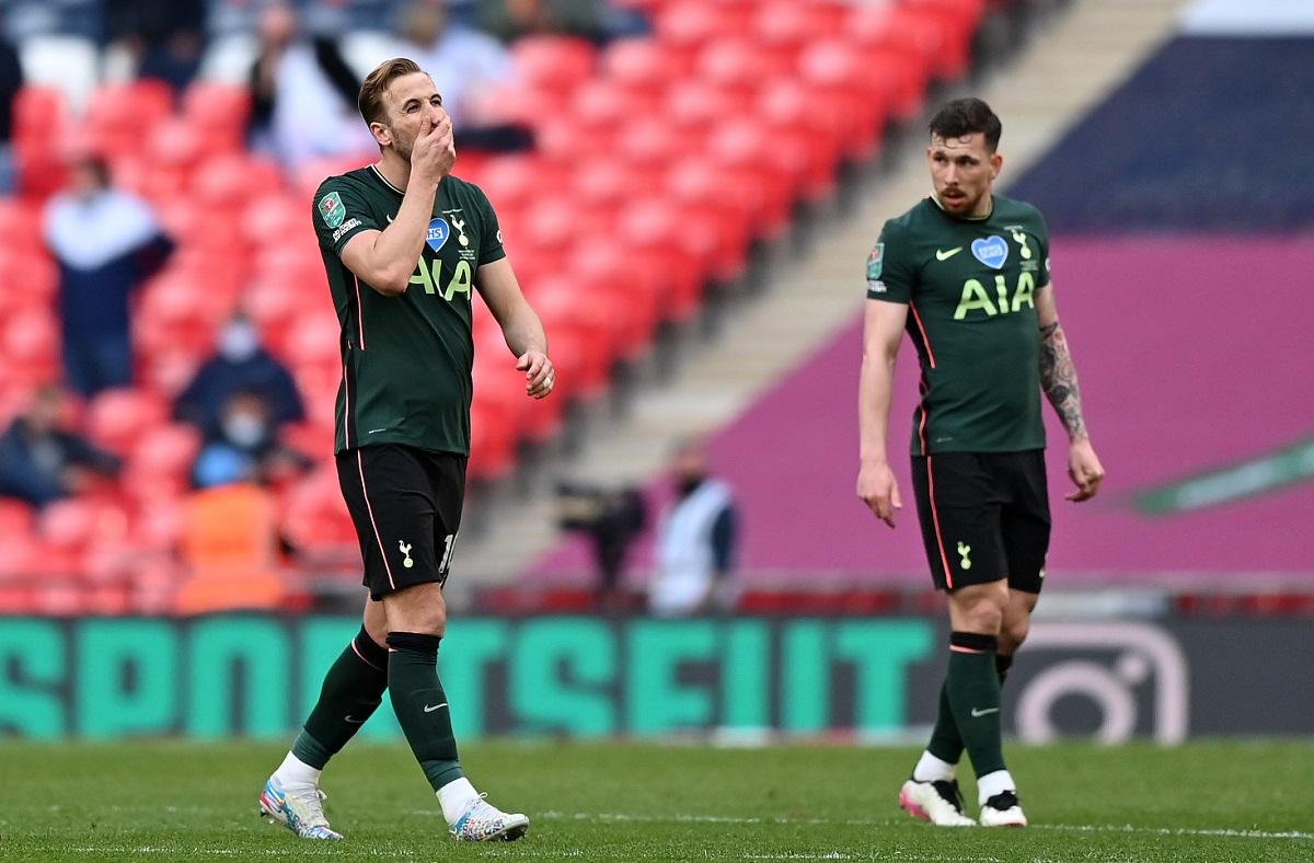 Harry Kane, Pierre-Emile Hojbjerg. Tottenham Hotspur - Carabao Cup Final