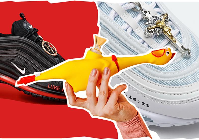 Satan shoes, aplikacja ze zdjęciami stóp i bongo w kształcie kurczaka. Czy MSCHF to nowe Supreme?