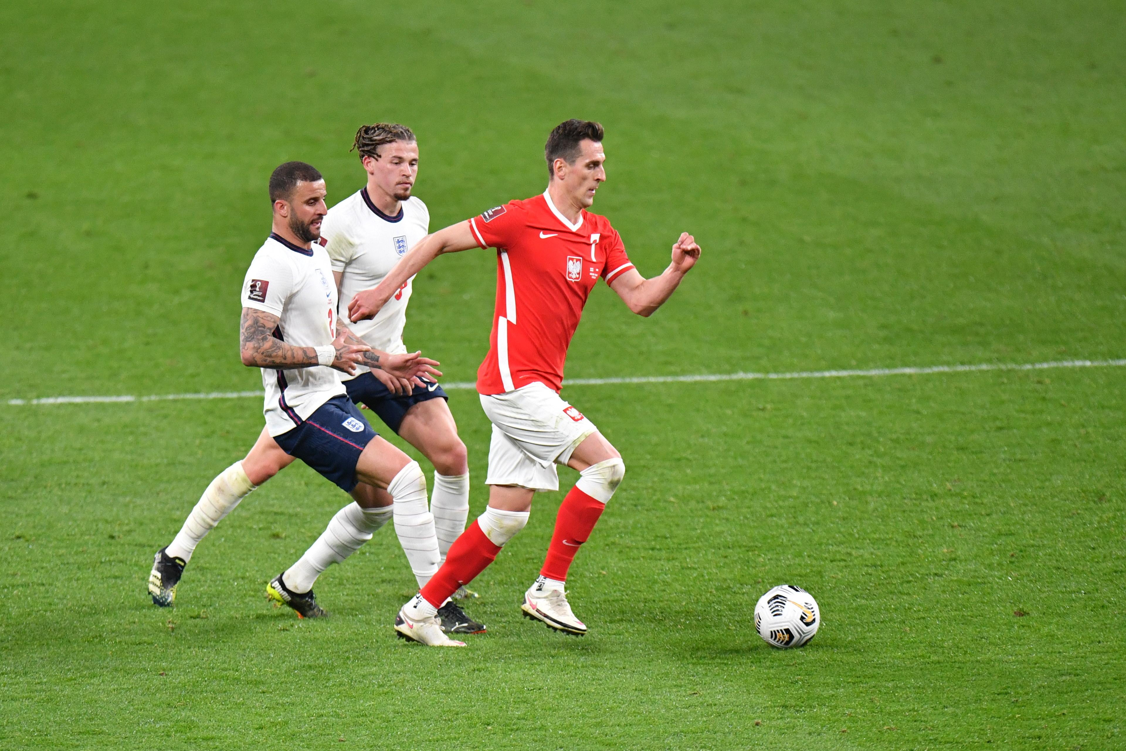 Pilka nozna. Eliminacje do MS 2022. Anglia - Polska. 31.03.2021