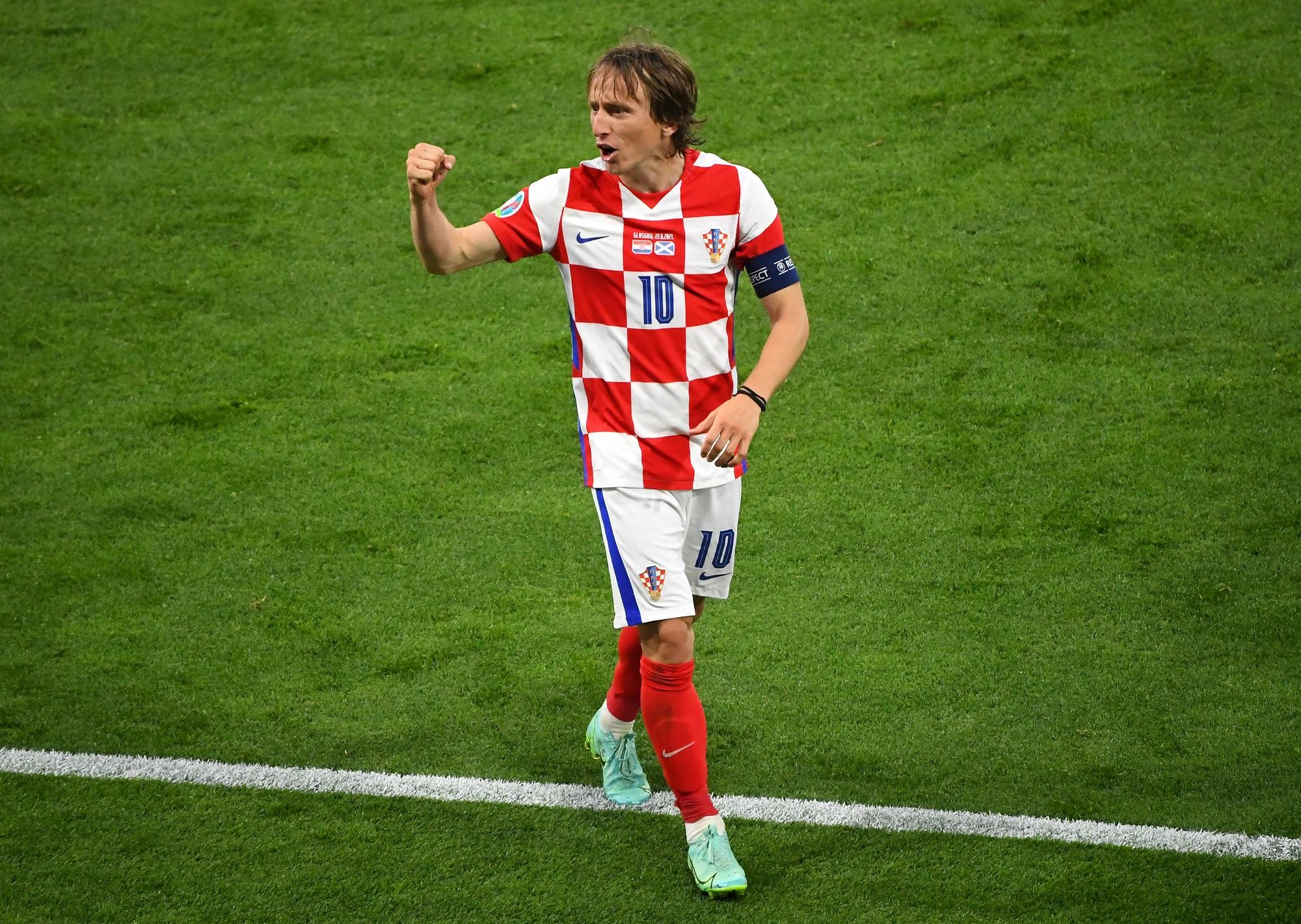 Luka Modrić. EURO 2020: Szkocja - Chorwacja