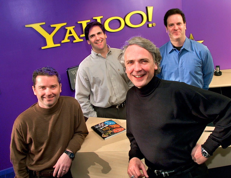 Yahoo! Inc Executives Front Jeff Mallett President And Coo And Tim Koogle Chairman