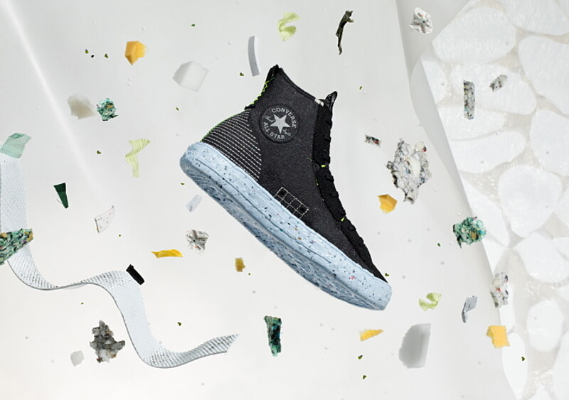 Converse patrzy w przyszłość - firma stworzyła buta zrobionego prawie w połowie z materiałów z recyklingu